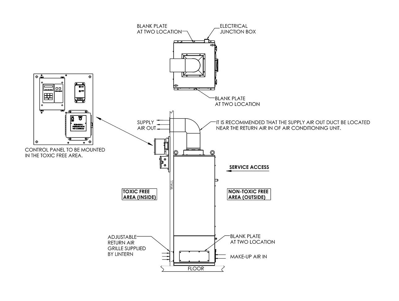LIF4000 - LIF4100 Mounting Configuration